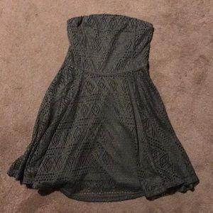 Express Army Green Crochet Dress